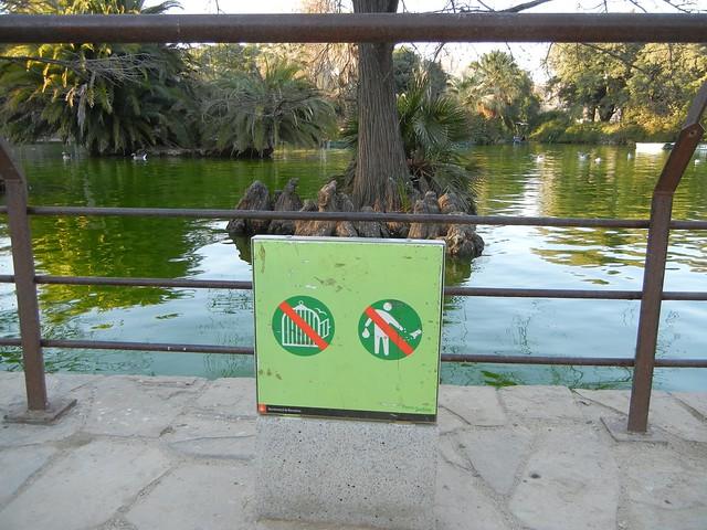 Do not release birds, Ciutadella Park, Barcelona