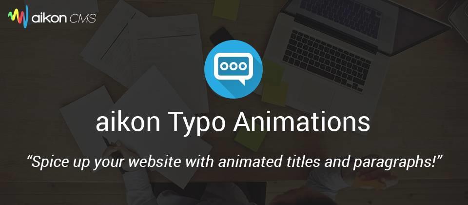 aikon Typo Animations