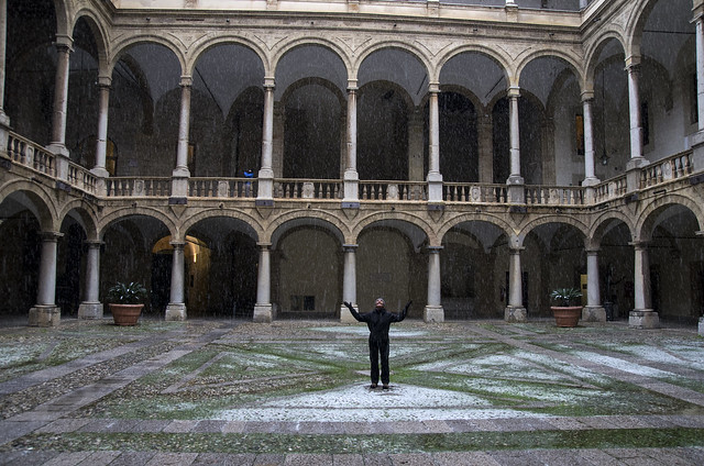 31122014 Palermo Palazzo dei Normanni Cortile