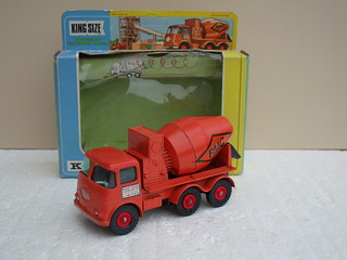Matchbox ERF Ready Mix Concrete Mixer Lorry 1960's Toy In Orange
