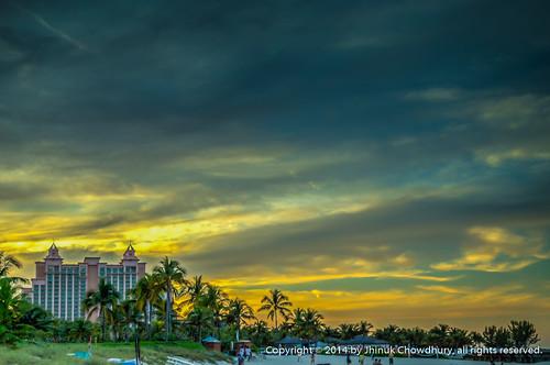 sunset sky cloud building beach silhouette skyscape coast cloudscape bahama paradiseisland