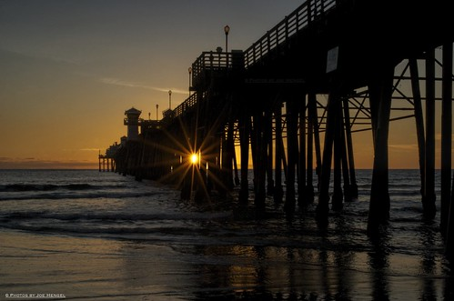 california sunset pier waves pacificocean socal oceanside southerncalifornia oceansidepier