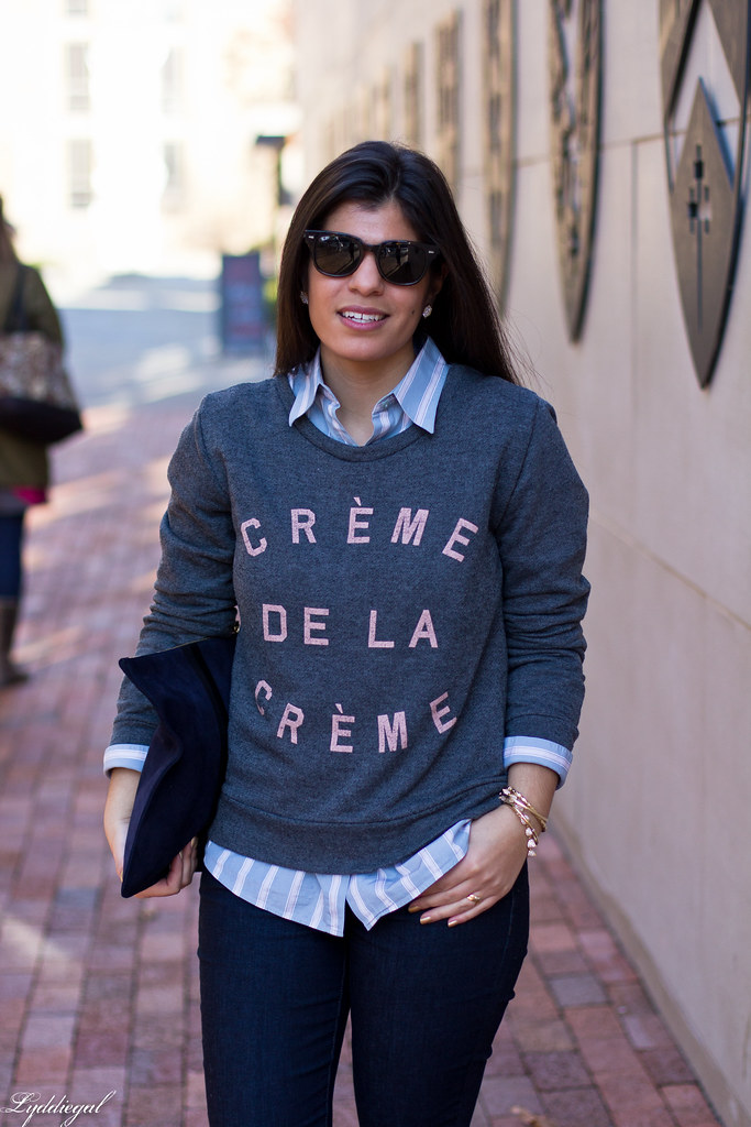 creme de la creme sweatshirt, striped shirt.jpg