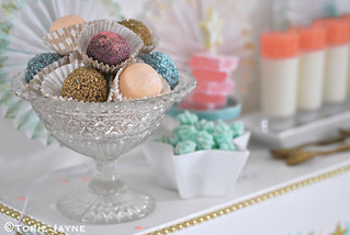 Handmade truffles on Dessert table 1