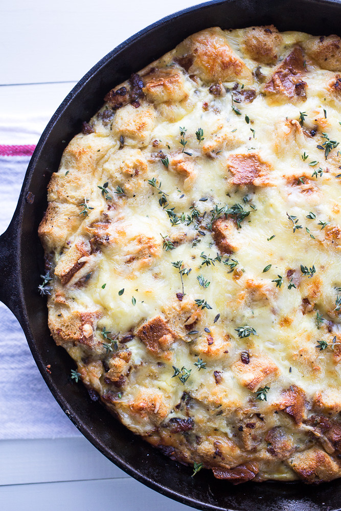Skillet Sausage and Cheese Strata
