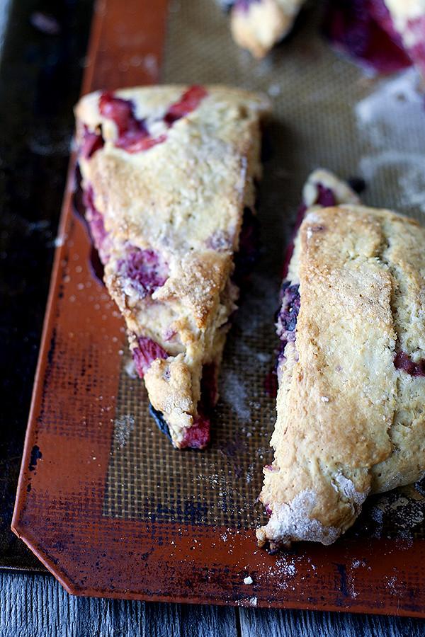 triple berry scones
