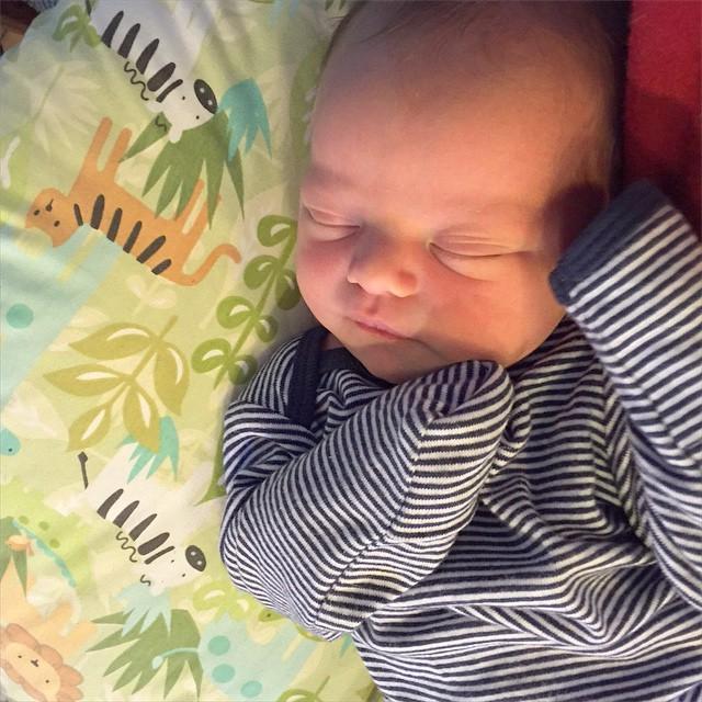 Sweet Harriet asleep in papa's lap. #hattiegram #love
