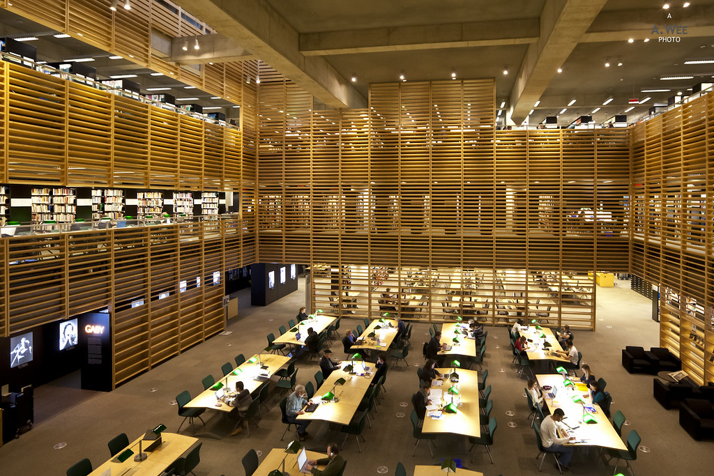 Reading room in the Library