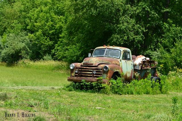 Green Field & Rusty Farm Truck.  092