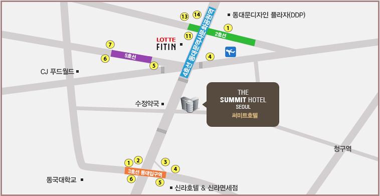 【東大門住宿】Expedia訂房|The Summit Hotel(首爾頂峰飯店)|靠近東大門商圈、批貨區、東大門歷史文化公園站(附交通地圖+飯店前即可搭大韓航空巴士方便到機場) @GINA環球旅行生活|不會韓文也可以去韓國 🇹🇼