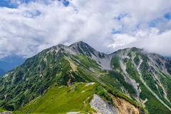 針ノ木岳とスバリ岳の山容