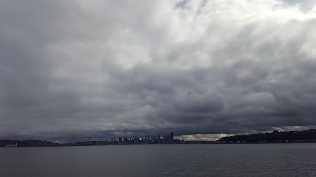 From the Bremerton ferry, nearing Seattle.