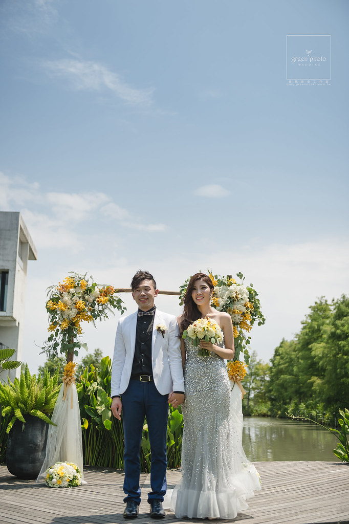 宜蘭,古堡餐廳,戶外證婚,婚禮記錄,婚禮紀實,綠攝影像,阿三,周上,蕃薯爸,交換戒指,