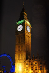 Big Ben & London Eye at night