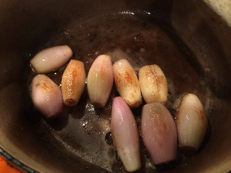 Beef and Ale Stew : Cook the shallots till  golden