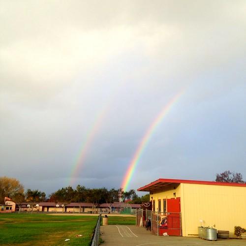 double rainbow at school