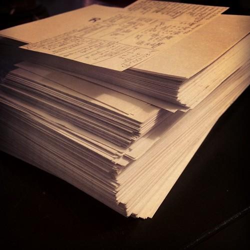 Flashcards on flashcards on flashcards. Save me. #mbalife #finalsweek