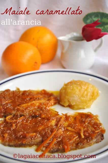 maiale caramellato all'arancia