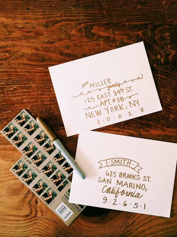 Hand Lettering + Christmas Cards + Sharpie
