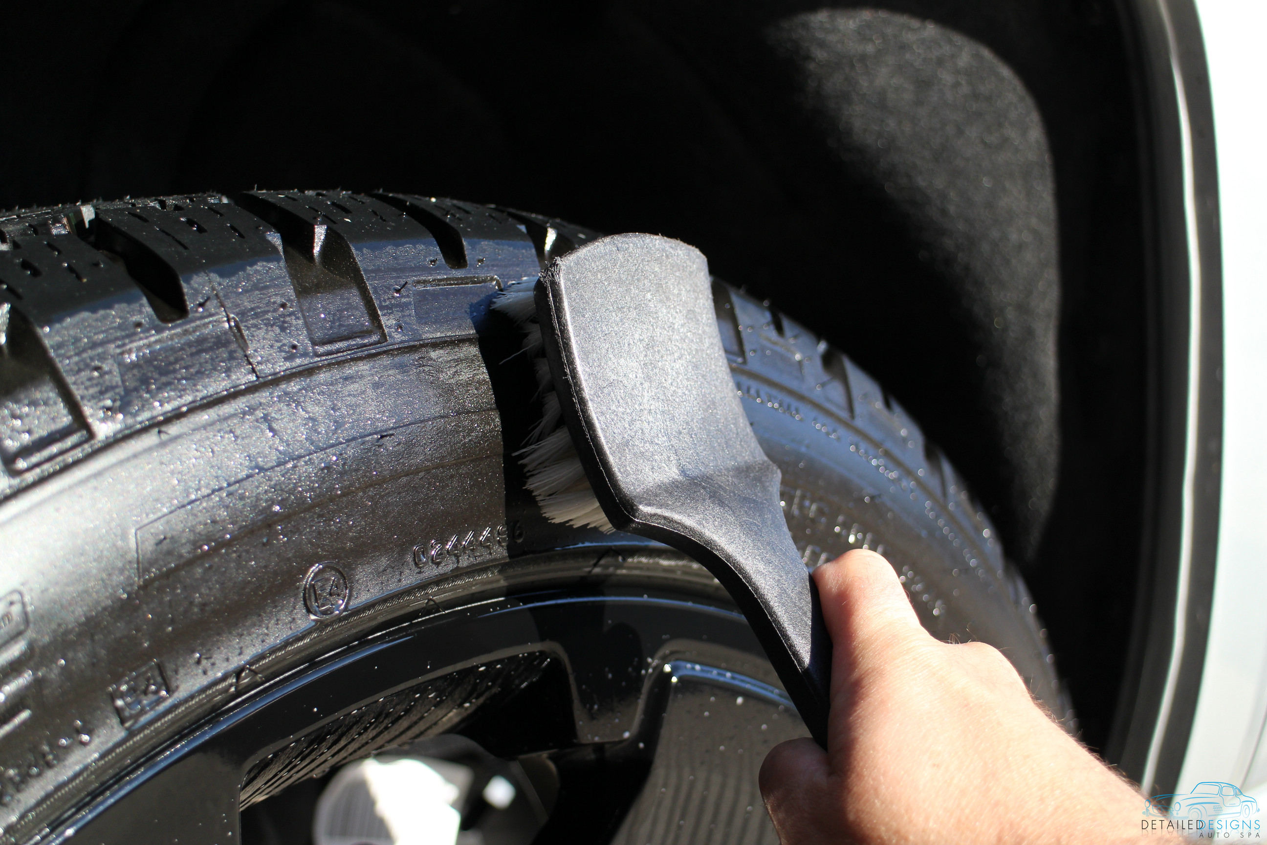Removal of tire dressing