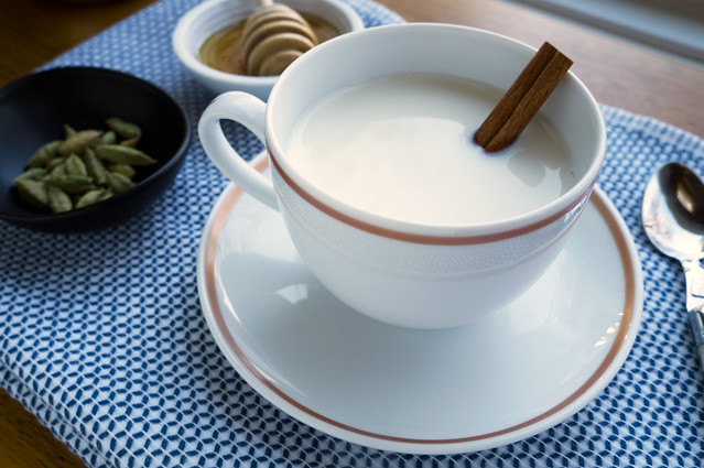 Milk with Cardamom and Honey