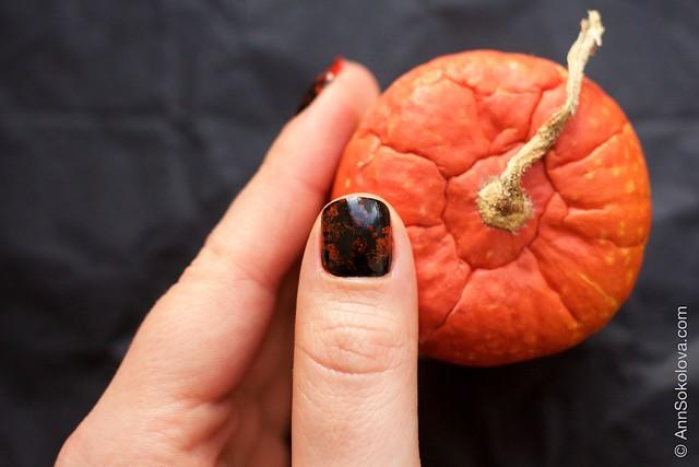 07 Morgan Taylor Halloween Collection 2014   Orange Crush swatches splatter nails
