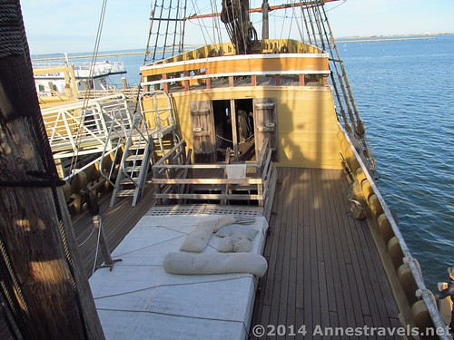 The mid-deck on the Mayflower II, Plymouth, MA