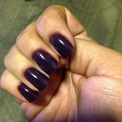essa semana eu vou assim! #nails #purple @risqueoficial #obsessao