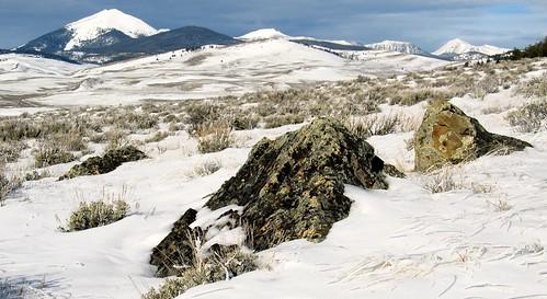 winter white snow mountains ice outdoors scenery montana scenic