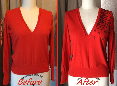 Embroidered Sweater - Before & After