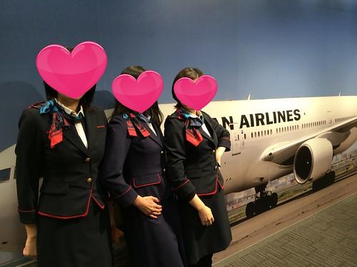 CAの制服体験!@JAL工場見学