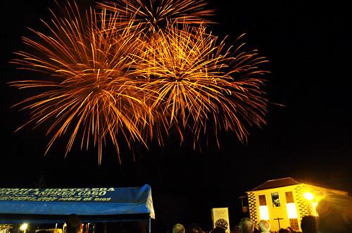 New Year Fireworks, Puerto de la Cruz, Tenerife