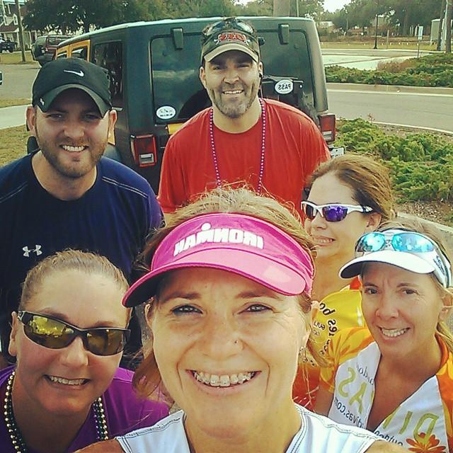 First group training adventure, 25 mile bike, 1.2 mile run. Great athletes right here friends!! #triouradventure #proudcoach #triathletesarecrazy