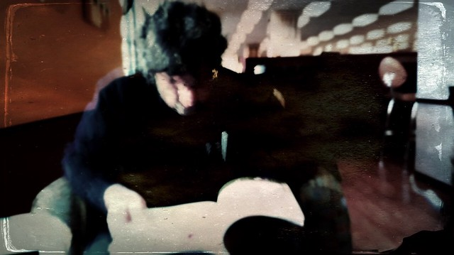 My husband reading