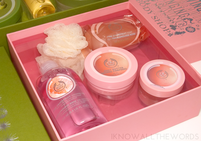 body shop gift sets- grapefruit