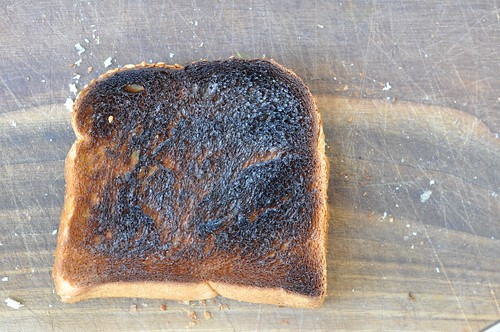 Burned toast!