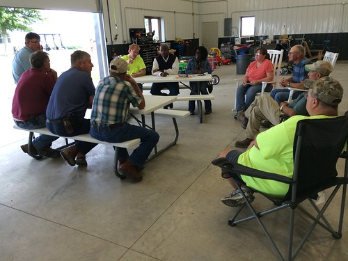 Ohio's response team meets with Hardin County farmers on August 12, 2014 to hear their thoughts about Toledo's water ban and a potential cover crop program. NRCS photo by Chris Coulon.