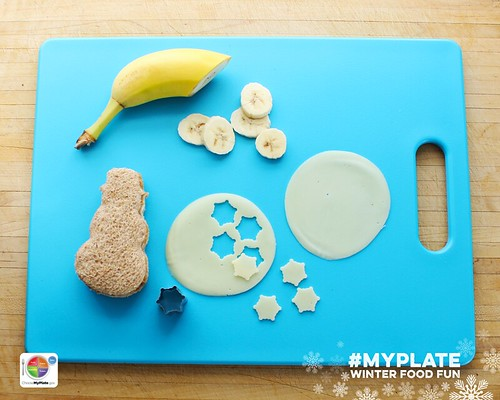 Edible MyPlate Snowman. Step 3.