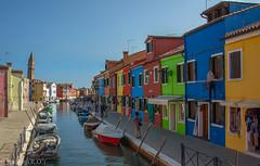 Along the canal at Burano, Italy