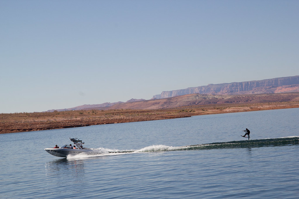 Jet skiing on Lake Powell