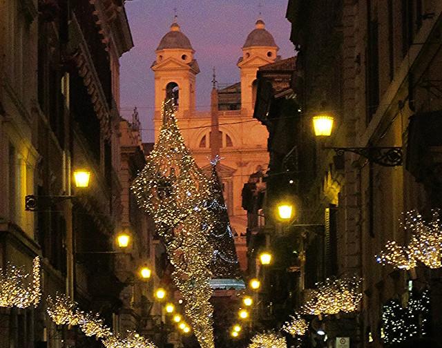 Roma, Natale in via Condotti