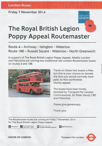 Poppy Appeal Routemasters Poster