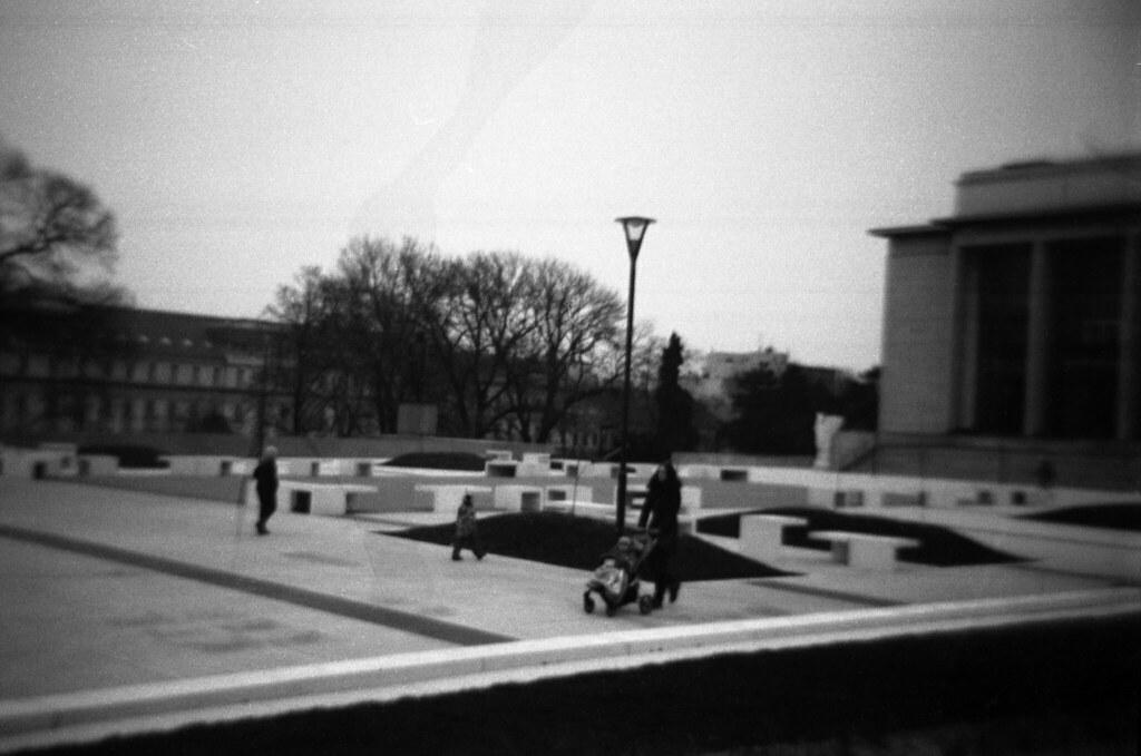 Holga 120FN - New Park in front of Janáček's Theatre