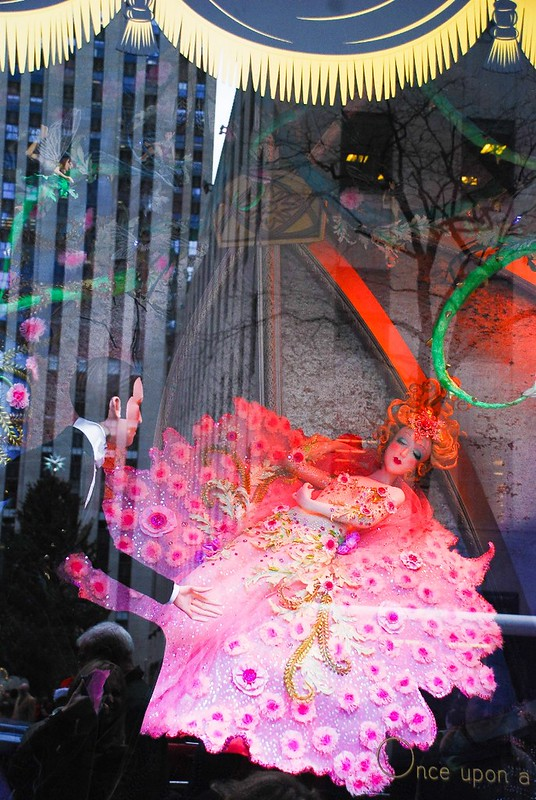 Saks fifth avenue NYC, Christmas window displays, sleeping beauty fairy tale