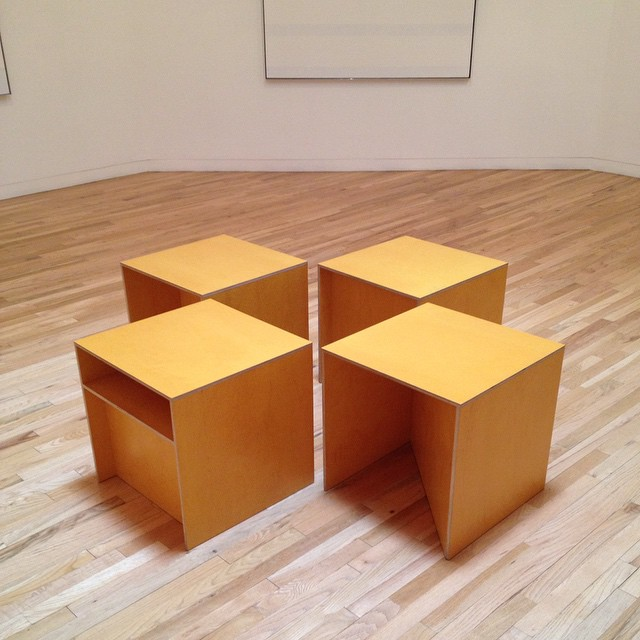 Donald Judd Benches in the Agnes Martin Gallery