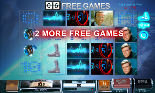 free The Six Million Dollar Man Bionic Free Games Feature