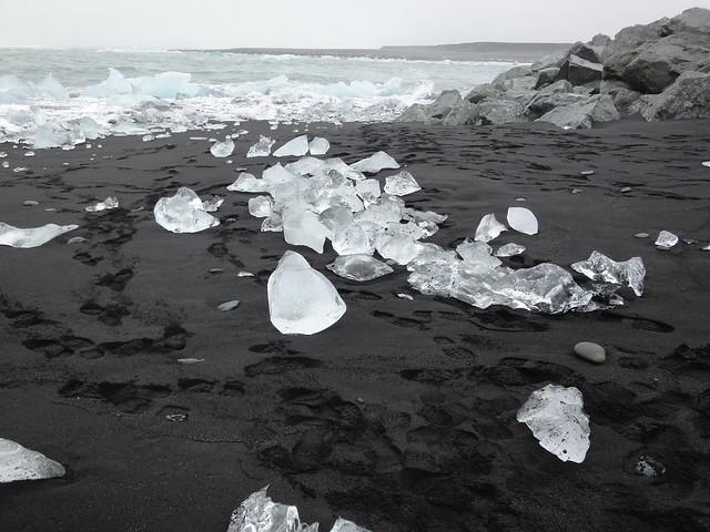 Ice Littering jökulsárlón Beach