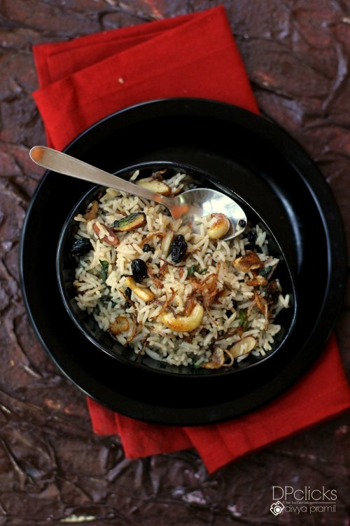 dry fruit and nut pulao