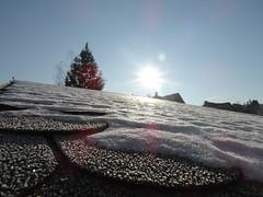 Hó a faház tetején 1