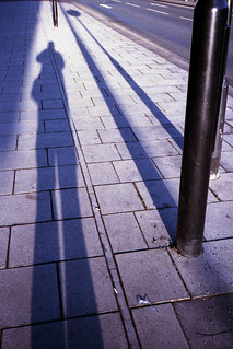 shadow self-portrait on Eyre St.